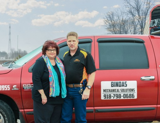 George and Sherri Bindas, owners of Bindas Mechanical Solutions