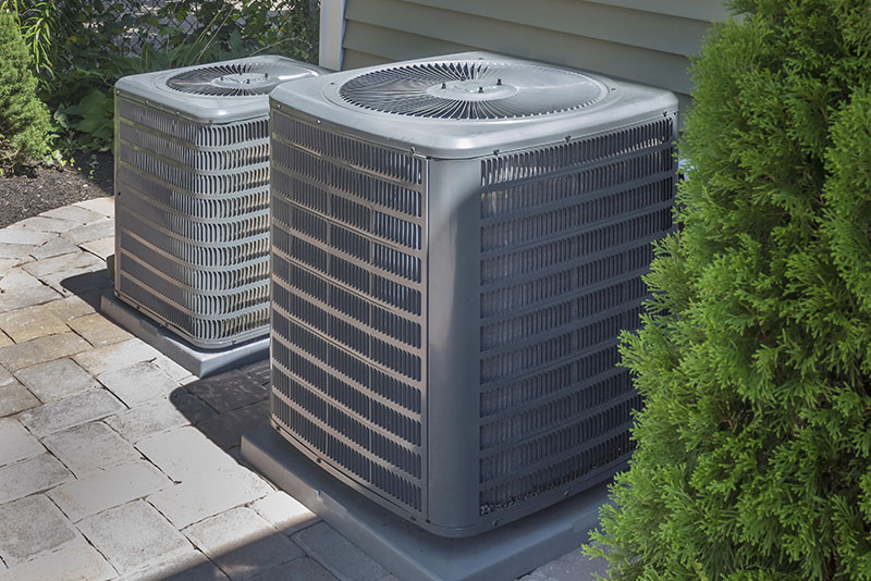 New installation of residential HVAC units